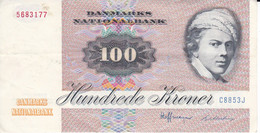 BILLETE DE DINAMARCA DE 100 KRONER DEL AÑO 1972  (BANK NOTE) RARO - Denmark