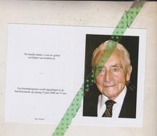 Robert Reybroeck-De Baecke, Melsen 1919, Kortrijk 2008, Onderwijzer O.r. Oud-strijder Krijgsgevangene 40-45 - Avvisi Di Necrologio