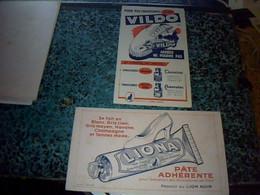 Buvards X2  Publicitaire Produits Du  Lion Noir Cirages  Vildo & Cirage Pâte Adhérente Liona - M