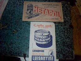 Vieux Papier  Buvards X2  Publicitaire Produits Du  Lion Noir Cirage Luisantine Et Mètapol Fer Fonte Acier - M