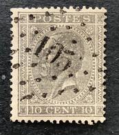 Leopold I In Profiel OBP 17A - 10c Gestempeld  LP105 ECAUSSINNES - 1865-1866 Linksprofil