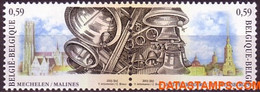 België 2003 - Mi:3219/3220, Yv:3163/3164, OBP:3170/3171, Stamp - XX - Bells From Mechelen Belgie - Rusland - Unused Stamps