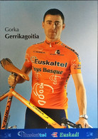 Postcard Gorka Gerrikagoitia - Euskaltel-Euskadi (serie With Bicycle) - 2002 - Wielrennen
