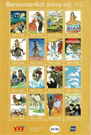 Denmark; Poster Stamp Sheet.  Children's Welfare 2004-05, H. C. Andersen; Fairytales.  Sheet With 16 Stamps; MNH(**). - Unclassified