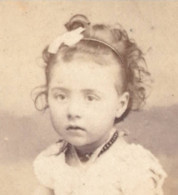 C.1860-70 Photo CDV  6x10cm  Fillette L BACARD - Old (before 1900)