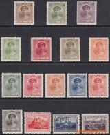Luxemburg 1921/1922 - Mi:121 + 122/133 + 134/136, Yv:119/154, Stamp - XX - Charlotte Landscapes - 1921-27 Charlotte Frontansicht