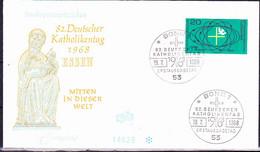 BRD FGR RFA - 85. Deutscher Katholikentag (MiNr: 568) 1968 - FDC - FDC: Buste