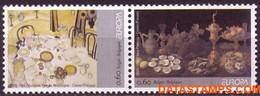 België 2005 - Mi:3437/3438, Yv:3371/3372, OBP:3386/3387, Stamp - XX - Europe 2005 Gastronomy - Unused Stamps