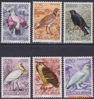 Joegoslavie 1972 - Mi:1459/1464, Yv:1345/1350, Stamp - XX - Native Birds - Unused Stamps