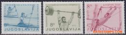 Joegoslavie 1982 - Mi:1935/1937, Yv:1819/1821, Stamp - XX - Kayak And Canoe Weightlifting - Nuevos