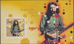 Ierland 2002 - Mi:BL 45, Yv:BL 47, Block - XX - Irish Rockers Rory Gallagher - Blocchi & Foglietti