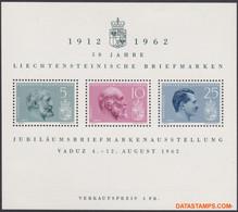 Liechtenstein 1962 - Mi:BL 6, Yv:BL 9, Block - XX - Stamp Exhibition Vaduz - Bloques & Hojas