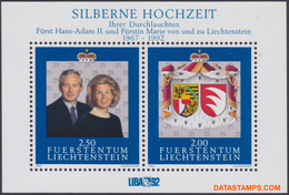 Liechtenstein 1992 - Mi:BL 14, Yv:BL 17, Block - XX - Wedding - Bloques & Hojas