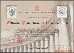 Vaticaan 2012 - Mi:BL 39, Yv:BL 41, Block - XX - Restoration Colonnade - Blocs & Hojas