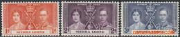 Sierra Leone 1937 - Mi:148/150, Yv:155/157, Stamp - XX - Coronation George And Elisabeth - Sierra Leona (1961-...)