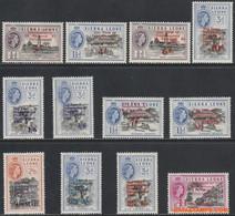Sierra Leone 1963 - Mi:223/224, Yv:228/233 + PA 1/6, Stamp - XX - Independence With Overprint - Sierra Leona (1961-...)
