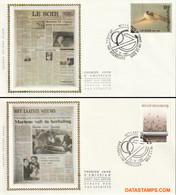 "België 1987 - Mi:2323/2324, Yv:2271/2272, OBP:2271/2272, Fdc Z/s - O - Communication ""le Soir"" En ""het Laatste Nieuws"" - 1971-80"