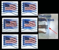 Etats-Unis / United States (Scott No.5345 - FLAG ) (o) All Positions - Oblitérés
