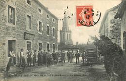 300621 - 43 SAINT JULIEN MOLHESABATE - La Grande Rue - Animation Café SAGNOL SACNOL Débit De Tabac - Autres Communes
