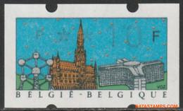 België 1990 - Mi:Autom 22 I, Yv:TD 30, OBP:ATM 81a, Machine Stamp - XX - Belgica 90 - Viñetas De Franqueo