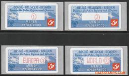 België 2009 - Mi:Autom 66, Yv:TD 74, OBP:ATM 123 Set, Machine Stamp - XX - Preserve The Polar Regions And Glaciers Thin - Automatenmarken (ATM)