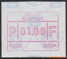 België 1991 - OBP:ATM 85a OC/CD, Machine Stamp - XX - Overprint Moved Digit - Postage Labels