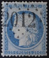 60C Obl GC 2012 Lesparres (32 Gironde ) Ind 3 ; Frappe Très Nette & Centrée - 1849-1876: Classic Period