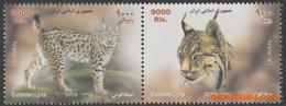 Iran 2016 - Mi:3410/3411, Yv:3042/3043, Stamp - XX - Lynx - Irán