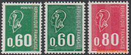 Frankrijk 1974 - Mi:1888/1889 + A1888, Yv:1814/1816, Stamp - XX - Marianne Bequet - 1971-76 Marianne Of Béquet