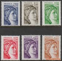 Frankrijk 1979 - Mi:2169 A W/2174 A W, Yv:2056/2061, Stamp - XX - Sabine - 1977-81 Sabine De Gandon