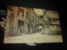 Cartes Postale  Allier Montluçon Passage Du Doyenné Animée - Montlucon
