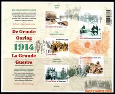 België 2014 - OBP:BL 220, Black And White Sheet - XX - The Great War - Hojas Blanco & Negro