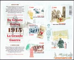 België 2015 - OBP:BL 224, Black And White Sheet - XX - The Great War - Hojas Blanco & Negro
