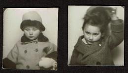 2 Photos Originales - Photobooth - Photo Identité Photomaton -fillette - Voir Scan - Persone Anonimi