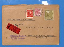 Allemagne Bizone 1947 Lettre De Saalfeld/Saale  (G2342) - Zona Anglo-Americana