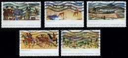 Etats-Unis / United States (Scott No.5372-76 - Post Office Murals) (o) Set Of 5 - Gebraucht