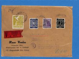 Allemagne Bizone 1947 Lettre De Ziegenhain   (G2343) - Zona Anglo-Americana