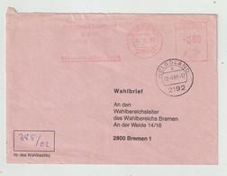"""Bundesrepublik Deutschland - 1983 - Wahlbrief Ex Helgoland, Freistempel """"Bremen"""" (1334) - Covers"""