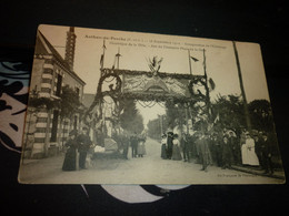 Cartes Postale Eure Et Loir Authon Du Perche 25/09/1910 Inauguration De L'éclairage Electrique De La Ville Animée - Altri Comuni