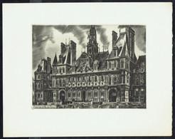 """""""PARIS: L'Hôtel De Ville""""  - Burin De DECARIS - Edition """"L'Accueil De Paris"""" - Dim.: 280 X 221 Mm. - Incisioni"""