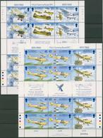 Alderney 1995 T.Rose Flugzeuge Kleinbogen 83/88 K Postfrisch (SG90383) - Alderney
