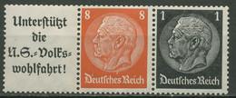 Deutsches Reich Zusammendrucke 1936/37 Hindenburg W 65 Postfrisch - Se-Tenant