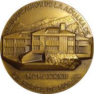ESPAÑA. MEDALLA F.N.M.T. INAUGURACION DE LA ADUANA DE LA FARGA DE MOLES. 1.982. BRONCE. ESPAGNE. SPAIN MEDAL - Professionals/Firms