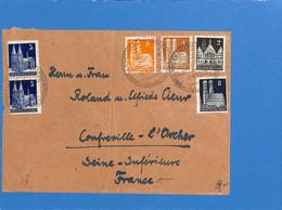 Allemagne Bizone 1950 Lettre De Langenargen  (G2413) - Zona Anglo-Americana