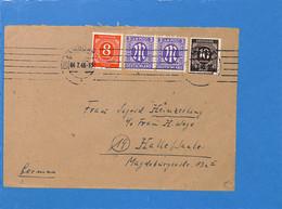 Allemagne Bizone 1946 Lettre De Hamburg (G2414) - Zona Anglo-Americana