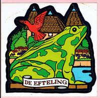 Sticker - De Efteling - Groene Kikker - Duif - Autocollants