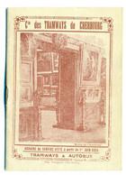 Livret Horaire De La Compagnie Des Tramways De Cherbourg 1935 - Europe