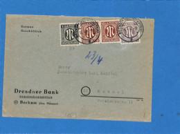 Allemagne Bizone 1946 Lettre De Beckum  (G2424) - American/British Zone