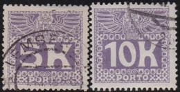 Österreich   .   Y&T    .    Taxe  44/45        .   O  .     Gebraucht  .   /    .  Cancelled - Postage Due