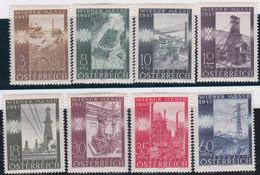 Österreich   .   Y&T    .  666/673    .   *  .   Ungebraucht  Mit Gummi.   /   .  Mint-hinged - 1945-60 Ongebruikt